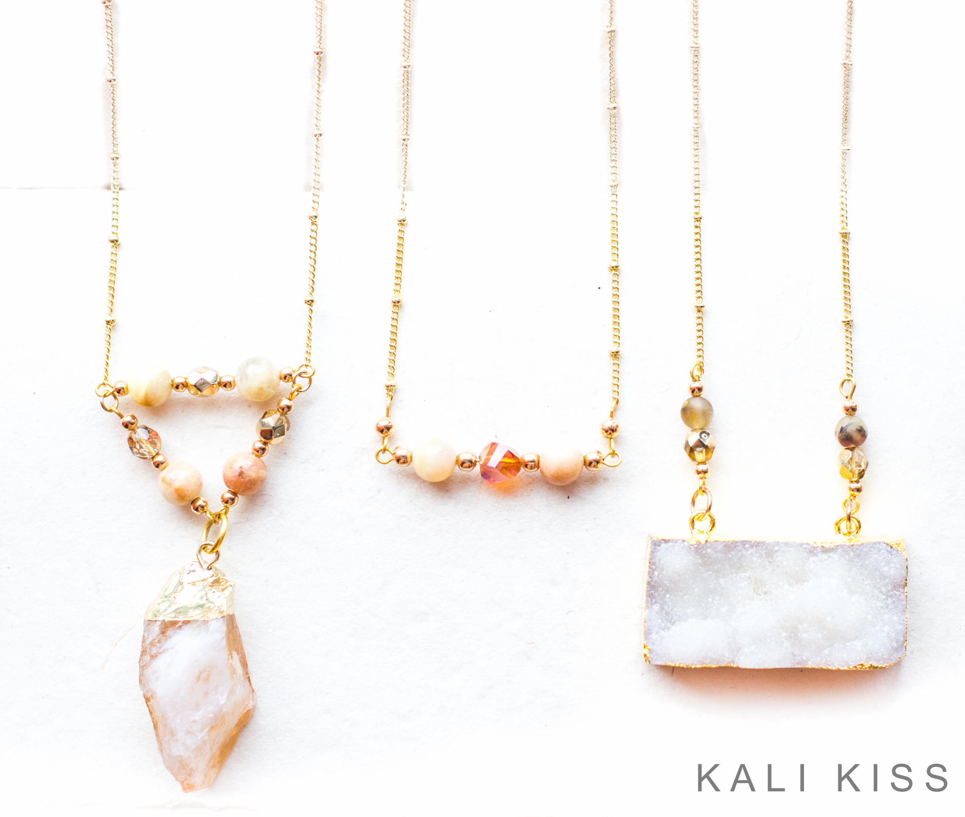 Sunstone, Citirne & Druzy Necklaces For You